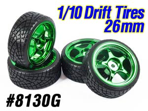 1/10 Drift Tires Set 26mm #8130G (4P)