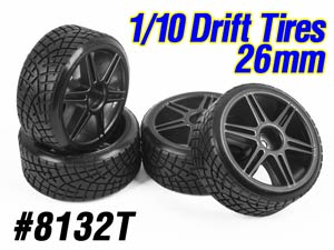 1/10 Drift Tires Set 26mm #8132T (4P)