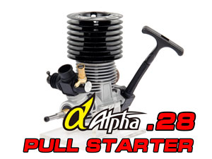 Alpha.28 Black Monster 3-Ports Pull Starter Engine