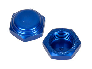 Alpha 1/8 Lock Nut M1.0mm Blue #MP05-260201 (2P)