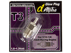 Bugi ALPHA T3 (Turbo Glow for Nitro)