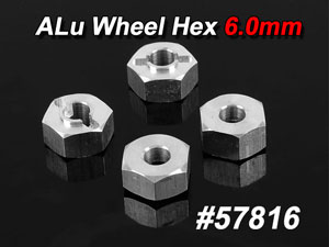 CPV Alu Wheel Hex 6.0mm (4P) #57816