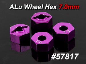 CPV Alu Wheel Hex 7.0mm (4P) #57817