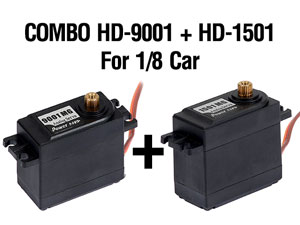 Combo servo HD-9001 + HD-1501 For 1/8 Car