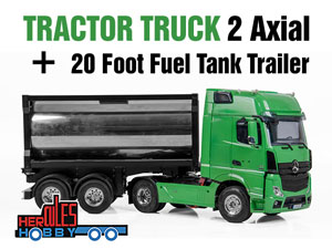 Hercules  2 Axial Tractor + 20 Foot Fuel Tank Trailer (1/14 RTR)