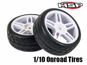 HSP 1/10 Onroad Tires Set 26mm (2P)