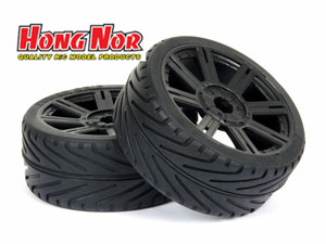 Hongnor 1/8 GT Tires BT-110 Black 8 Spokes (2P)
