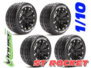 Louise 1/10 ST-ROCKET Stadium Truck Tires (Black) 4P