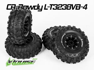 Louise 1/10 Tires Set CR-ROWDY #L-T3238VB-4P