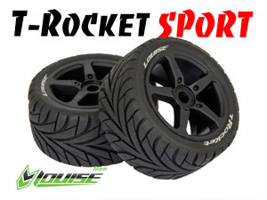 Louise 1/8 Truggy T-ROCKET Black SPORT (2P)
