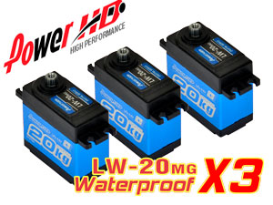 Combo Waterproof Servo LW-20MG x 3con