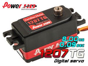 PowerHD Digital Servo (Super Fast) #HD-1207TG