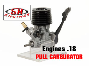 SH Engine.18 Nitro for 1/10 Car [Black Head]