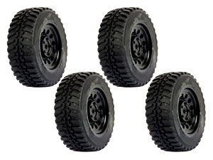 SST 1/10 Rally Tires Set Black (4P)