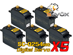 Savox Digital Servo SC-0254MG x  5con