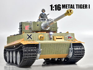 Taigen 1/16 RC Tank Tiger I (90% Die-Cast Metal)