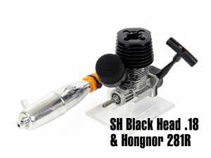 Combo SH Engine .18 Black Head 3.0cc & Pipe 281R