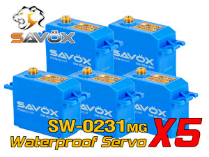 Savox Waterproof Servo SW-0231MG x 5con