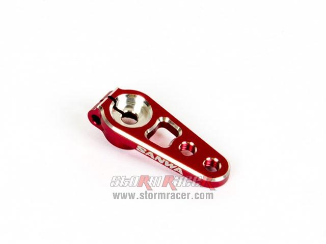 SanwaAlu Servo Arm (Red) #107A54263A 005